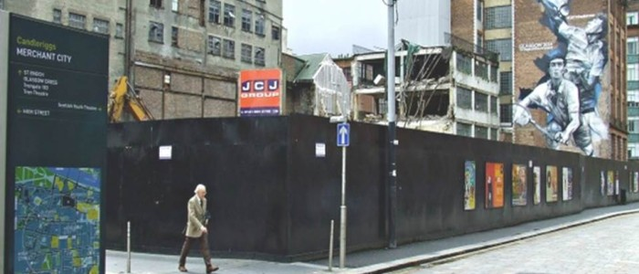The Poster Associates new street poster site at Glasgow's Candleriggs.
